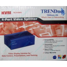 Видеосплиттер TRENDnet KVM TK-V400S (4-Port) в Коврове, разветвитель видеосигнала TRENDnet KVM TK-V400S (Ковров)